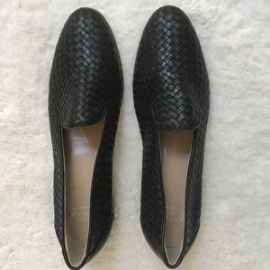 Andre Assous black flats loafers, size 9